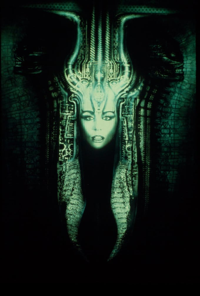 sphinx woman painting H.R. Giger