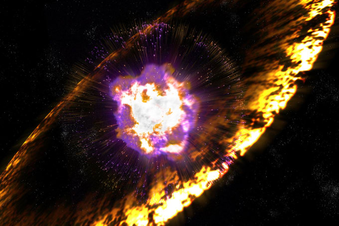 cosmic ray explosion