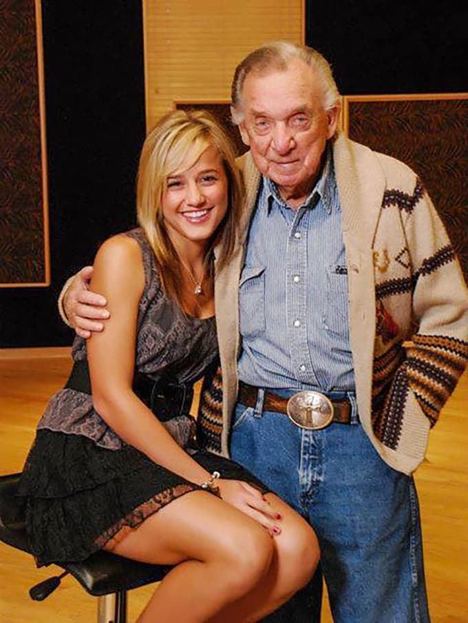 The late Ray Price with Mary Sarah