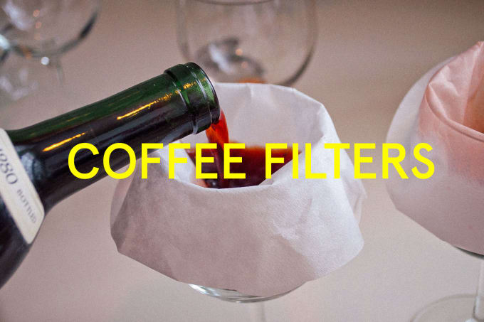 If you accidentally shoved cork into the wine, you can get it out of your wine glasses by pouring the wine through an aerator or coffee filter.