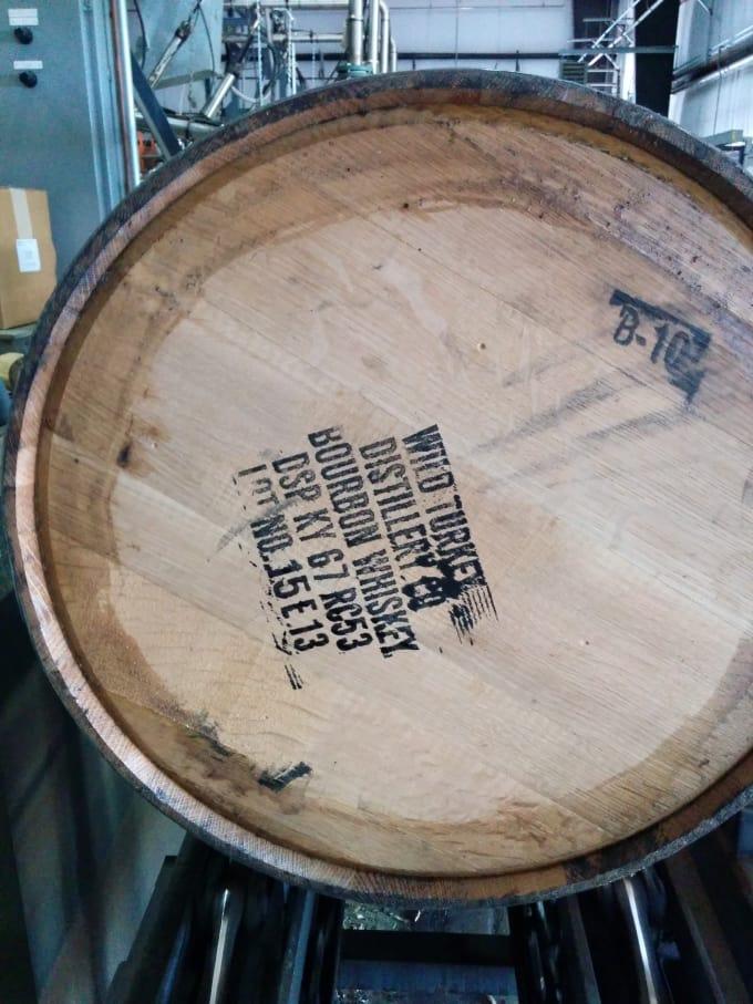Bourbon. In a barrel.