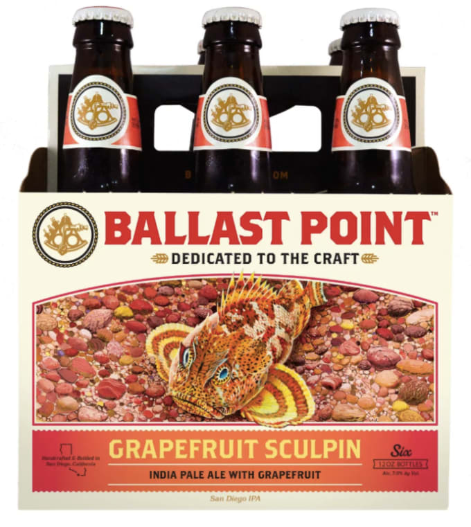 Ballast Point Brewing's Grapefruit Sculpin