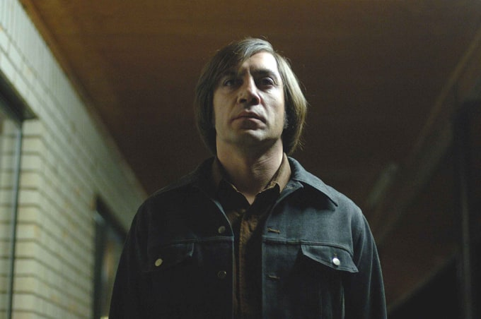 No Country for Old Men: Javier Bardem as Anton Chigurh