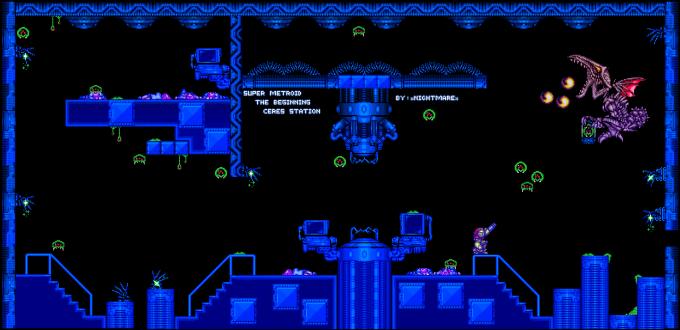 Opening Level - Super Metroid