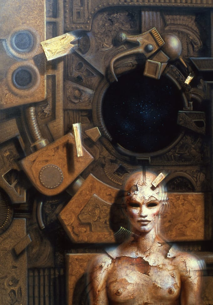 robot woman painting Gerard Di-Maccio