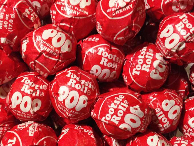 Cherry Tootsie Pop Shots