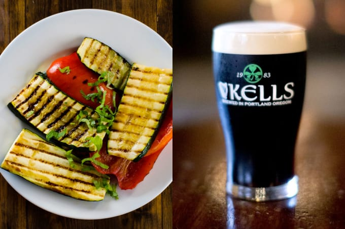 Grilled Vegetables + Irish Stouts