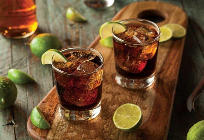 Rum + Diet Coke: 80 Calories (Per Drink)