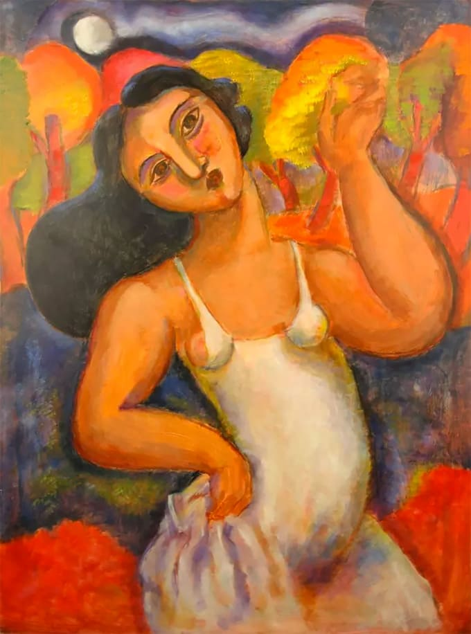"""Dancing Girl"" Painting by Bob Guccione"