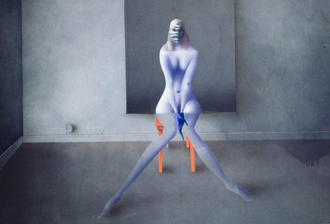 sci-fi woman painting Paul Wunderlich