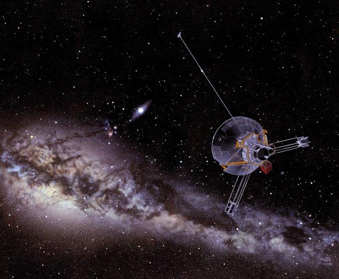pioneer in space