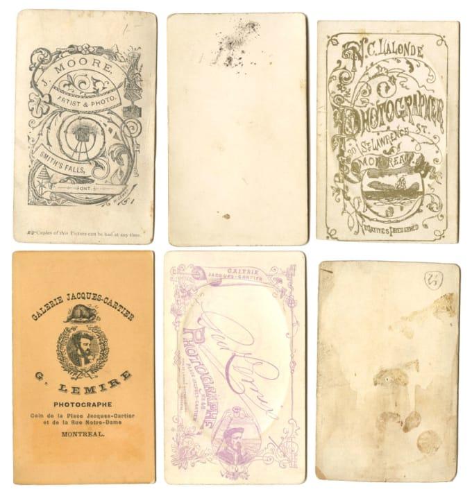 6 Cartes de Visites via Media History