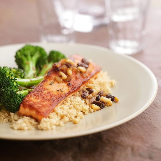 Seared Salmon With Broccoli