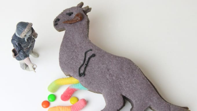 Tauntaun Cookies with Candy Innards