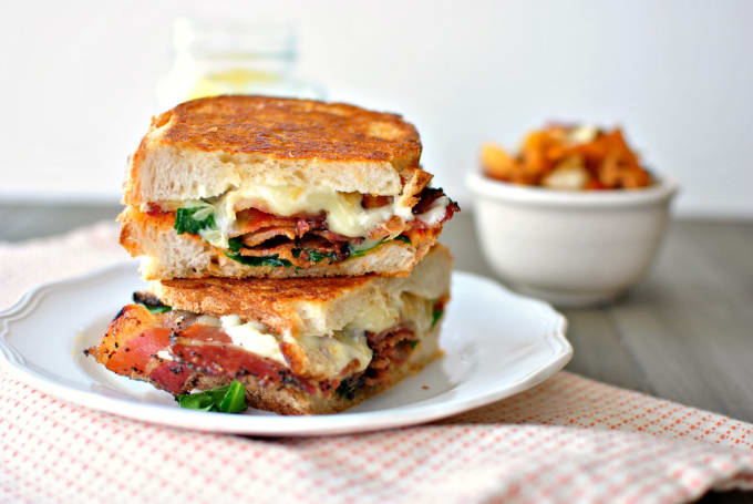 Garlic Bacon Grilled Cheese