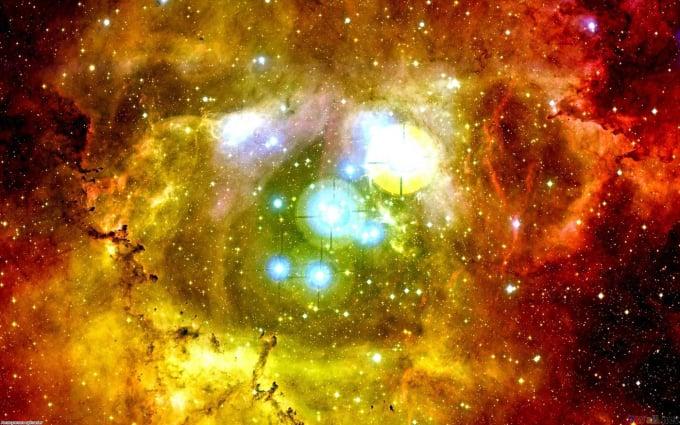 red and yellow nebula