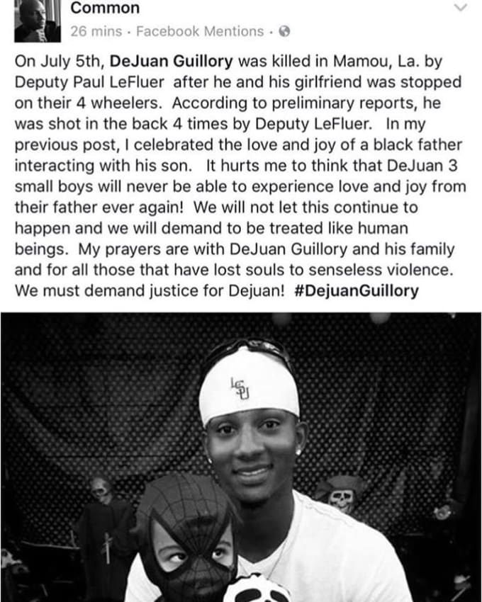 Dejuan Guillory shot and killed on July 5, 2017