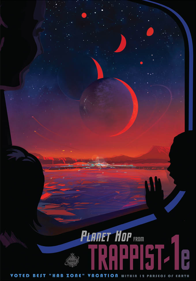 Welcome to TRAPPIST-1e – what would a trip there be like? Image by NASA-JPL/Caltech