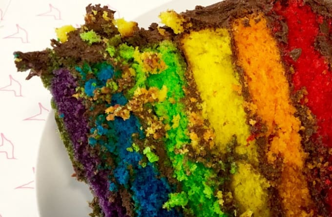 The farewell cake that DCal brought on his last day with Gay Star News