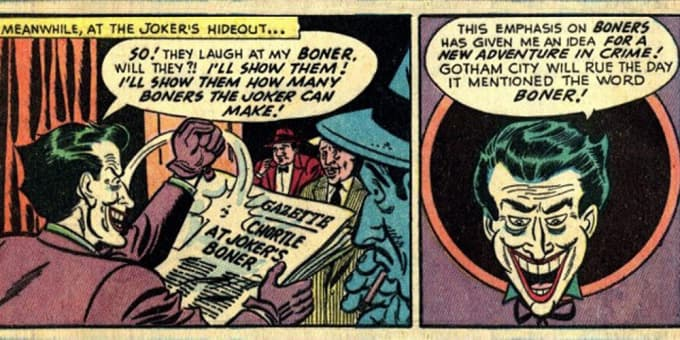 Of course sometimes the Joker really is funny!