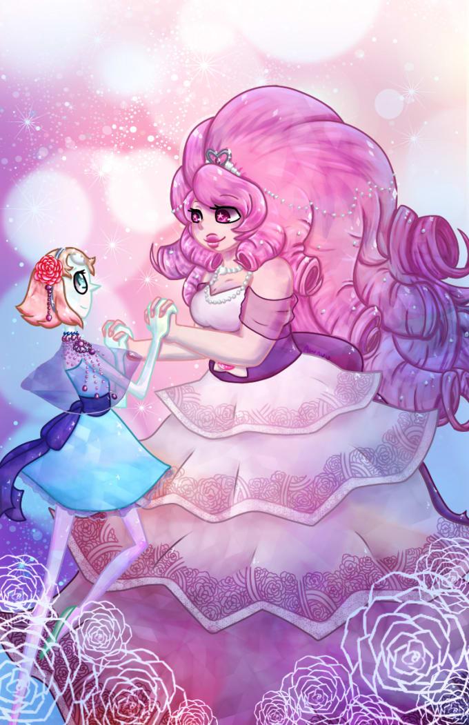 Rose Quartz and Pearl