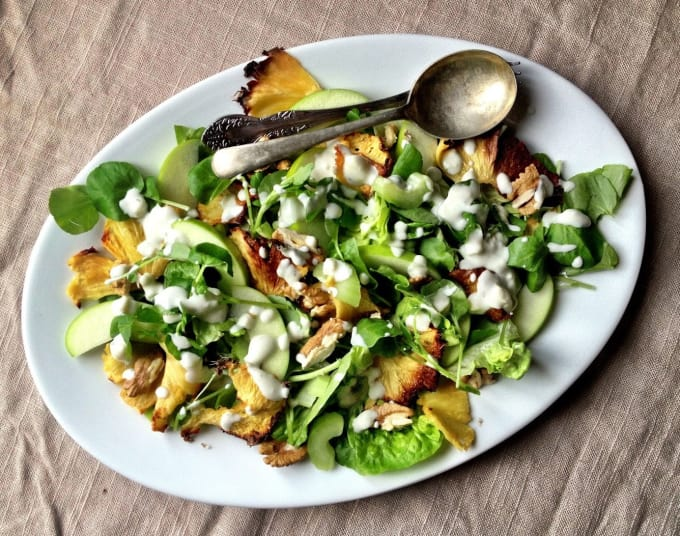 Lime And Cheese Salad With Seafood
