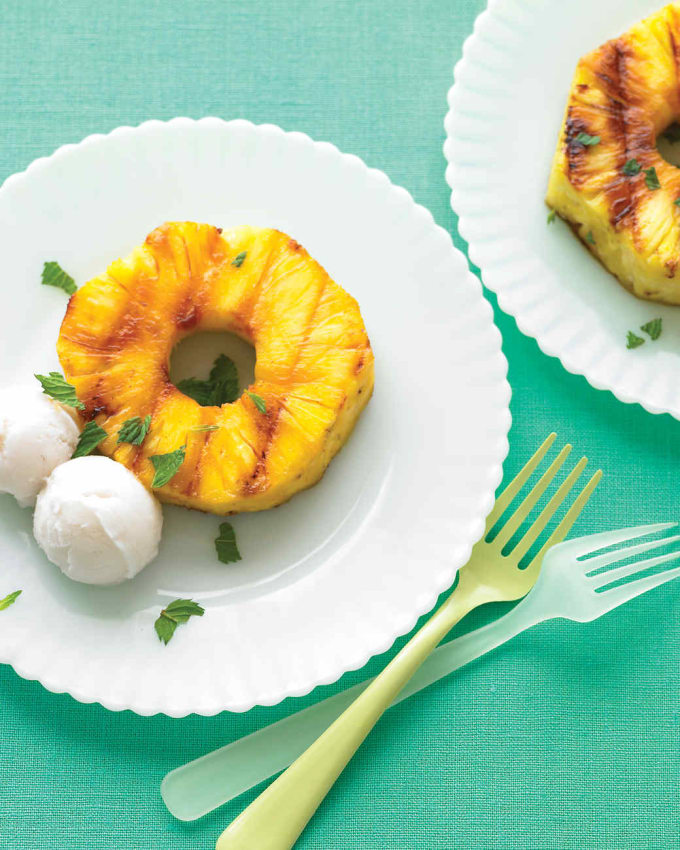 Grilled Pineapple With Coconut Sorbet