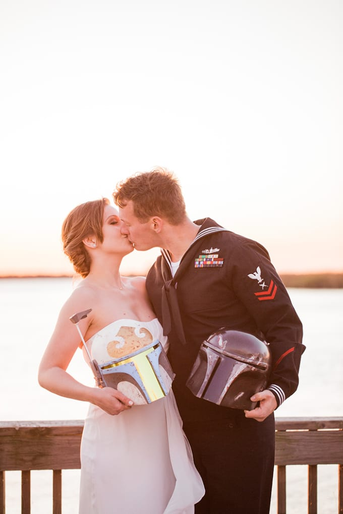 Star Wars Inspired Beach Elopement