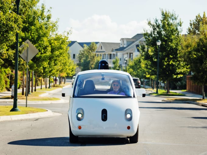 """If the driverless car is headed towards a crowd and """"knows"""" it can't stop in time, who dies?"""