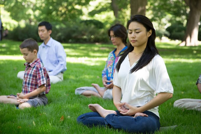 Group meditation can be a great way to get started.