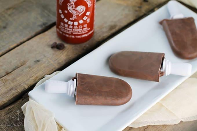 Sriracha Fudge Popsicles