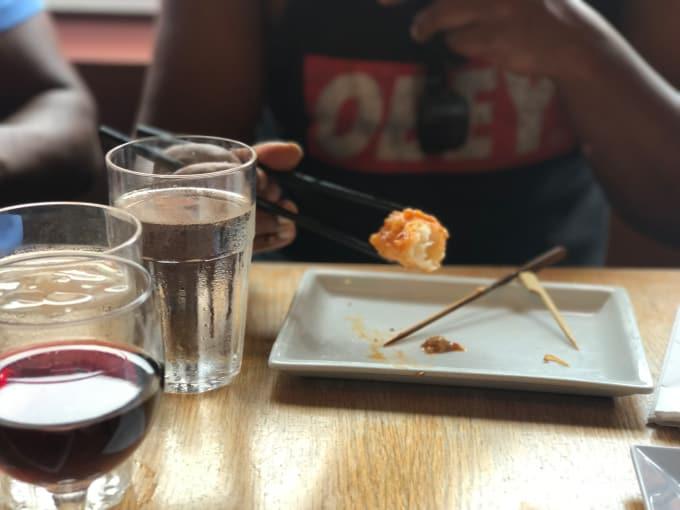 Never tried anything like this shrimp tempura before.