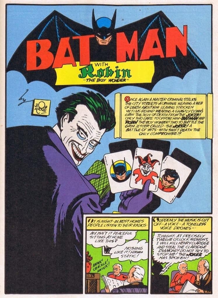 Batman #1, Joker's 1st appearance