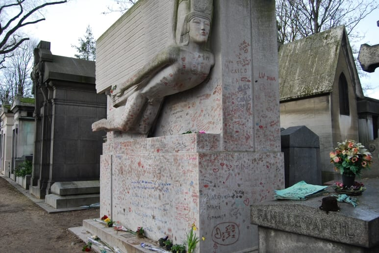 Oscar Wilde's grave, Perre Lachaise, Paris