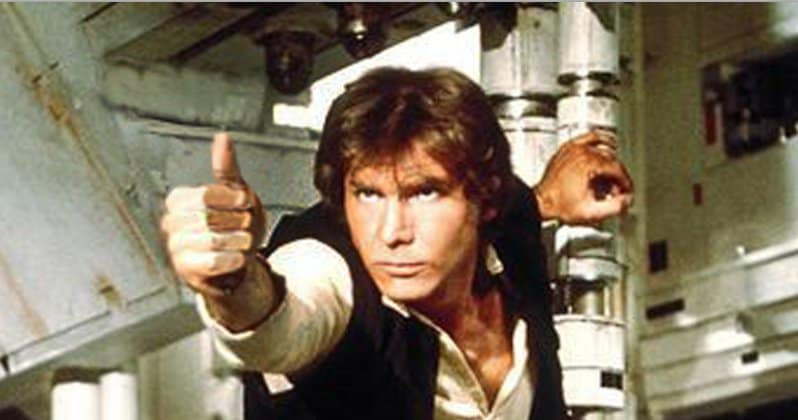 Han Solo with an invisible blaster?