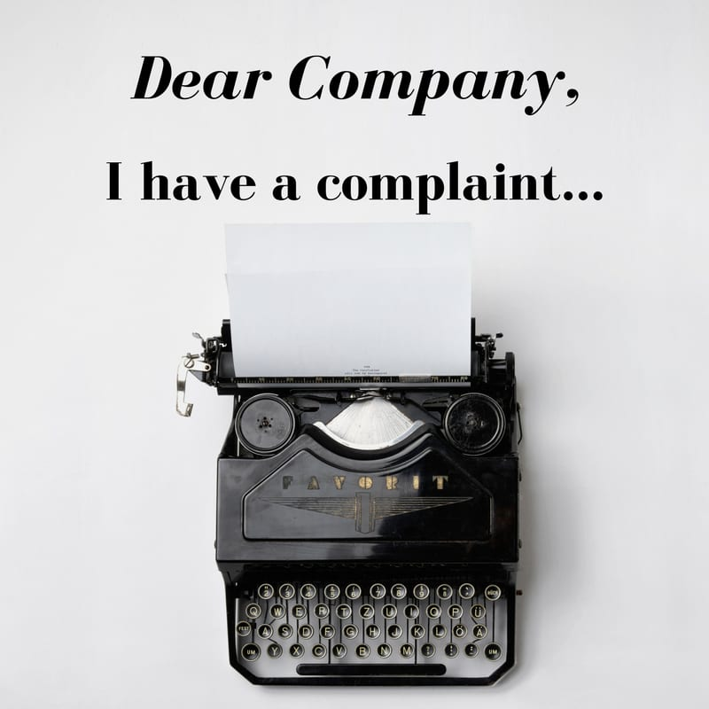 Bad Business? Write a Letter