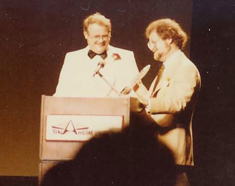Larry Niven and Jerry Pournelle at the 84' WorldCon