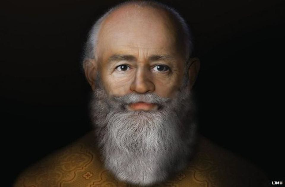 An eerily realistic reconstruction of St. Nicholas based on the work of Professor Caroline Wilkinson. (Liverpool John Moores University)