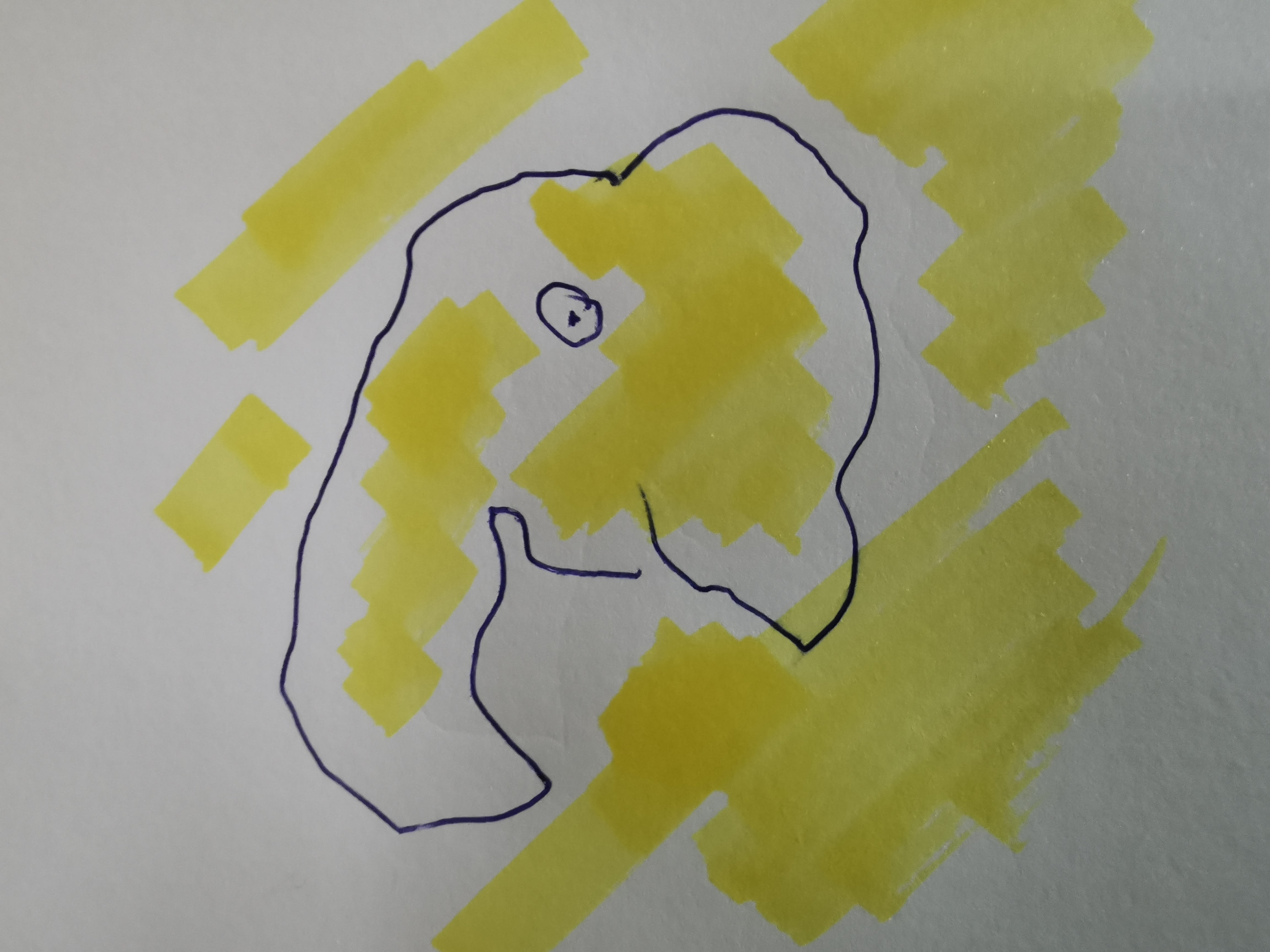 Two Yellow Elephants