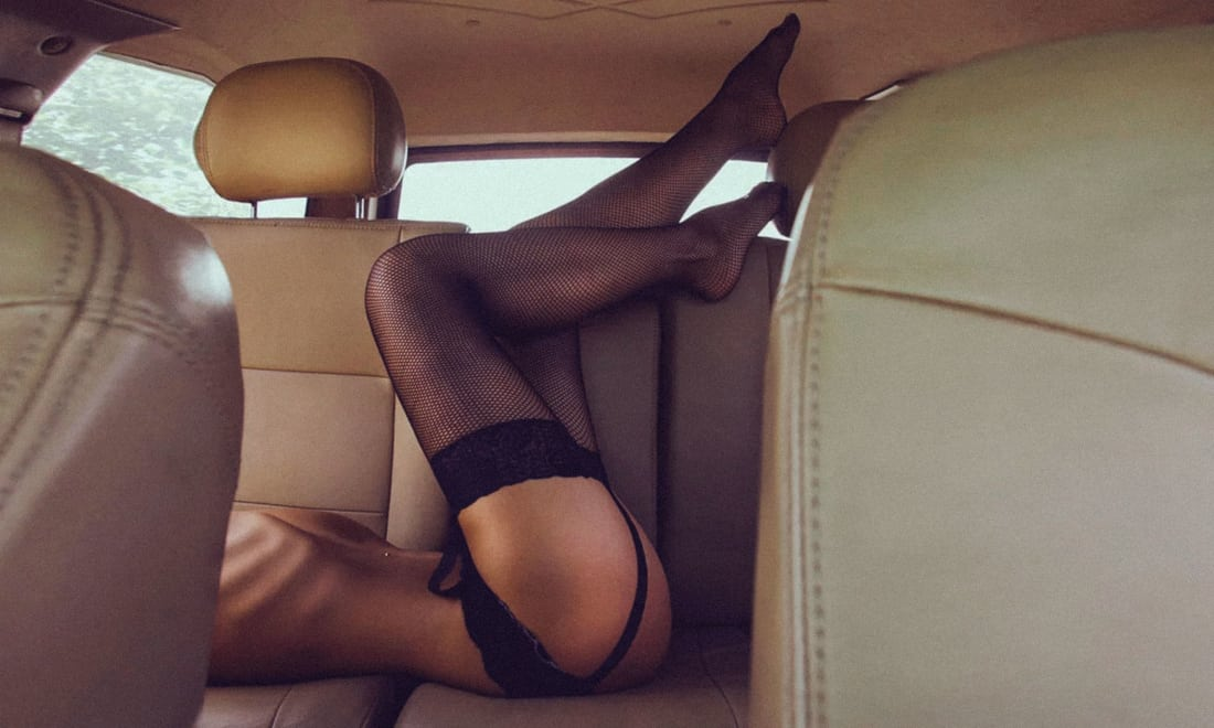 Sex position in a car