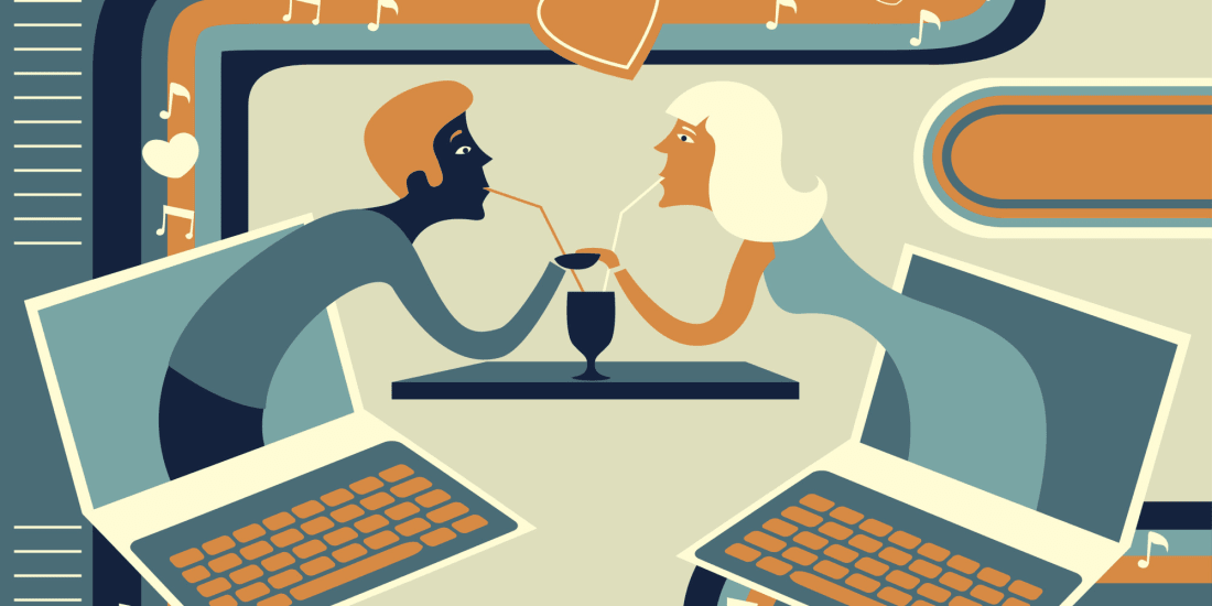 Online dating is seen as modern romance