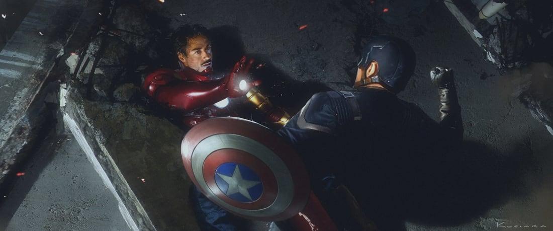 gorgeous captain america civil war concept art puts the focus on