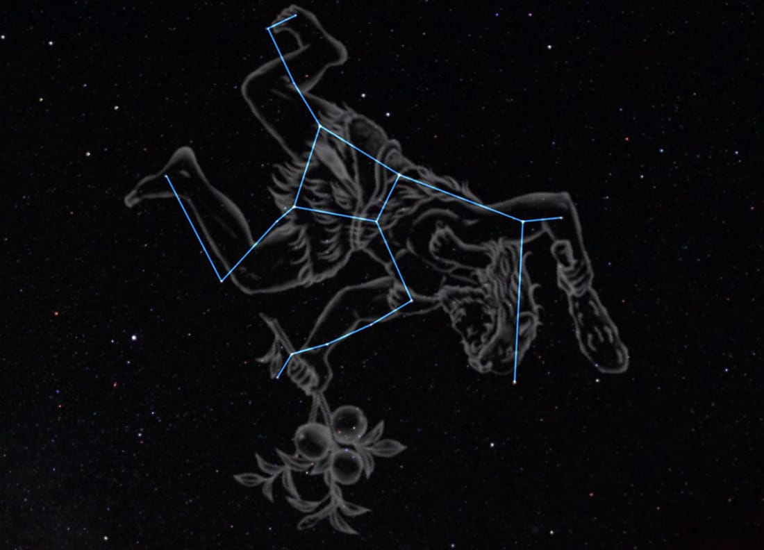 Artistic rendering of the Hercules constellation