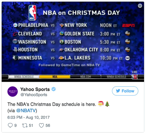 view on twitter - Christmas Day Games