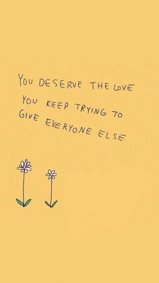 you deserve my love