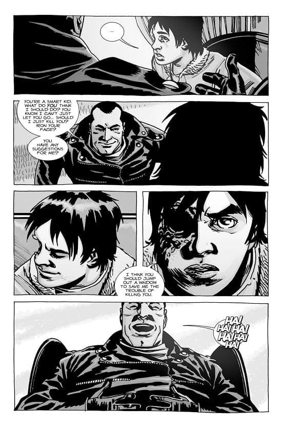 The Walking Dead Comic Carl Loses His Eye - The Walking Dead