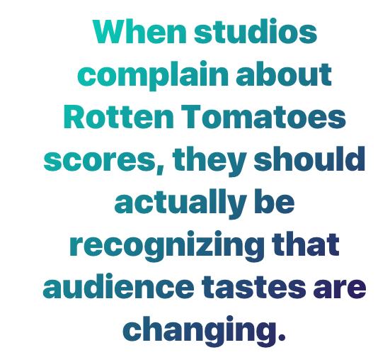 newsflash rotten tomatoes isn t impacting box office performance