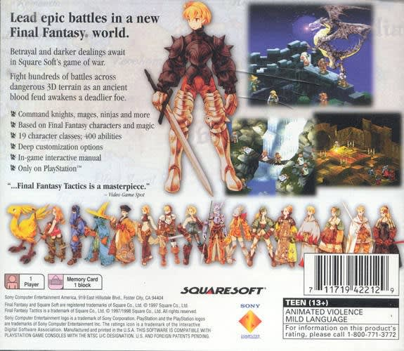 Final Fantasy Tactics   Gamers