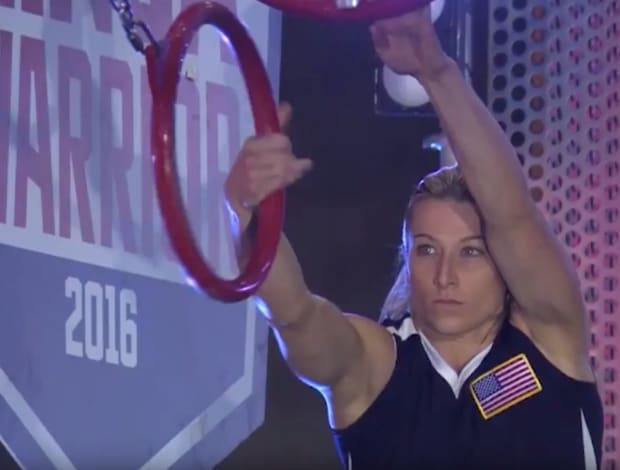 62dce7dabe  Supergirl  Stuntwoman Jessie Graff Makes History By Completing Stage 2 of  American Ninja Warrior