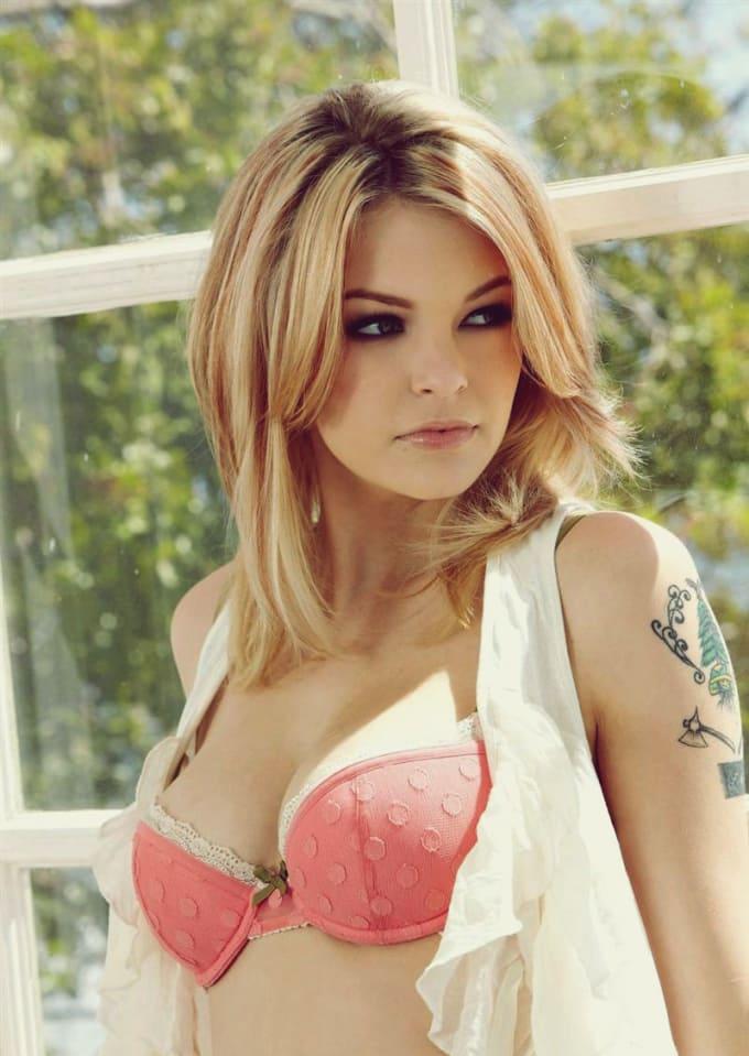 Hot lady naked video